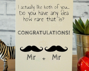 Gay engagement card etsy