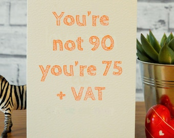 90th Birthday Card Funny Gift Ideas Turning 90