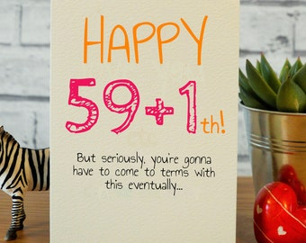 60th Birthday Funny Cards Mum Dad Card Happy Gift 60 Gifts