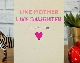 Funny Mothers Day Card Cards Birthday Mom Mum Gifts