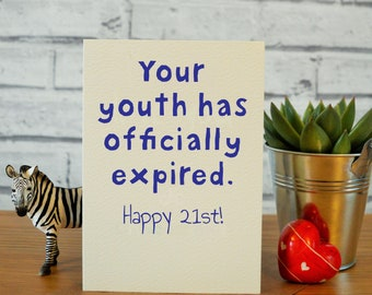 Funny 21st Birthday Cards For Him Gifts Card Son Boyfriend Nephew