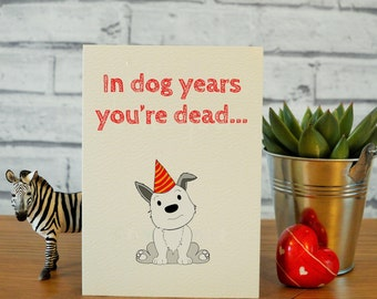 Dad Birthday Card Funny Cards Brother Best Friend Dog Lover Gifts