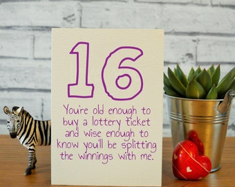 16th Birthday Card Daughter Gifts Funny Niece Granddaughter