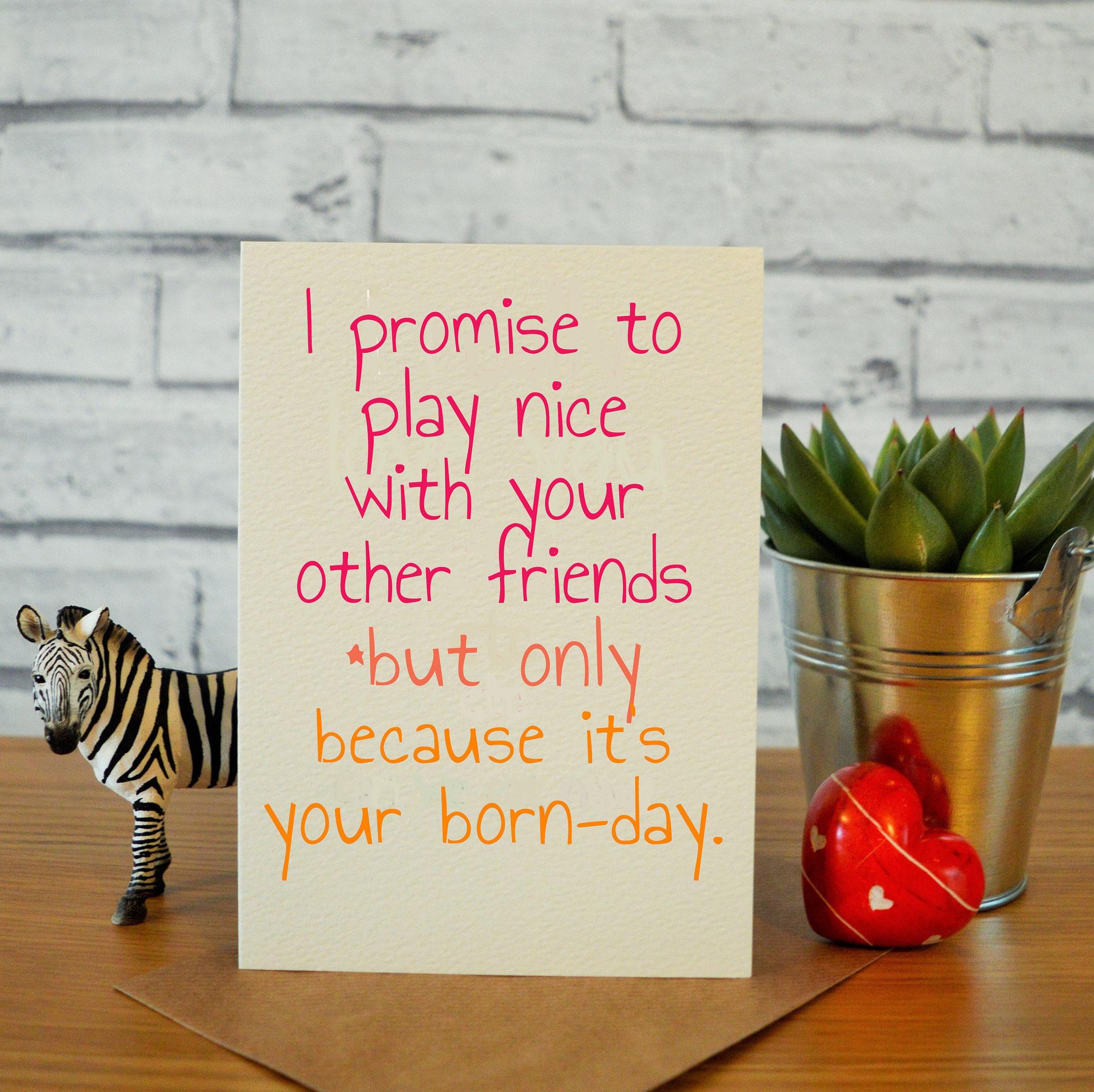 Beste Freundin Geschenke lustige Geburtstagskarte lustige | Etsy