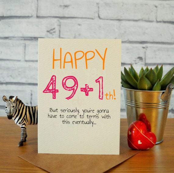50th Birthday Card Happy Funny