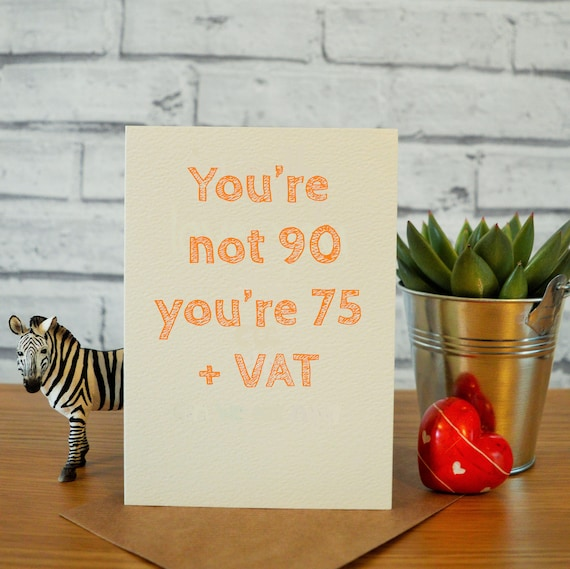 90th Birthday Card Funny