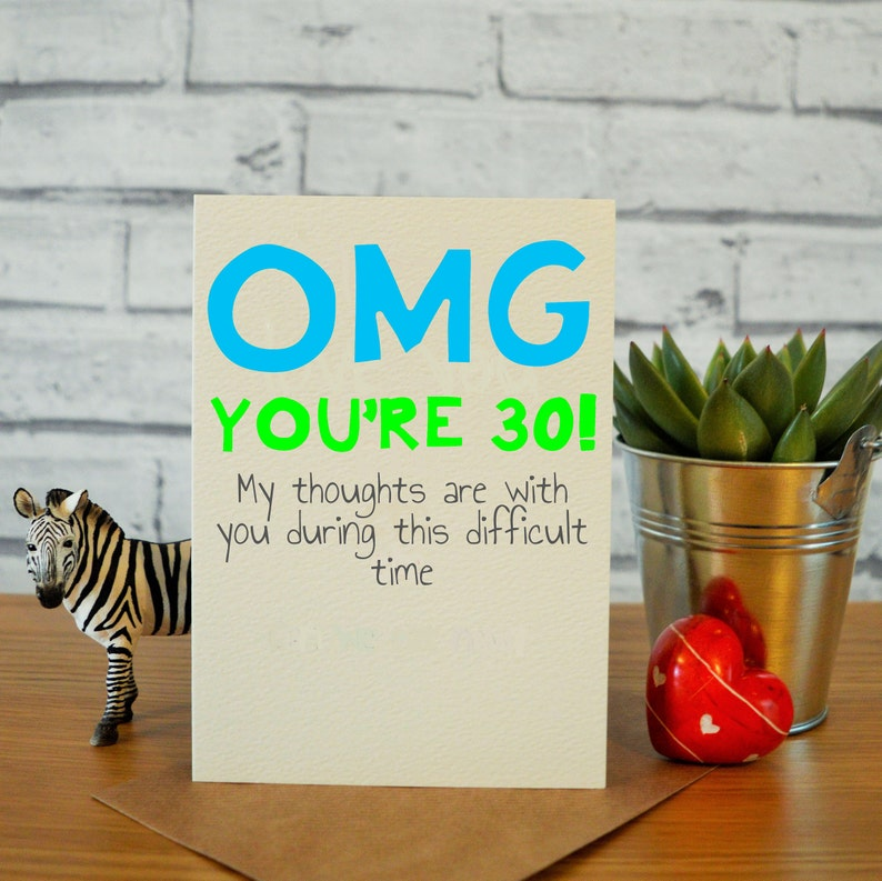 30th Birthday Card For Him Funny