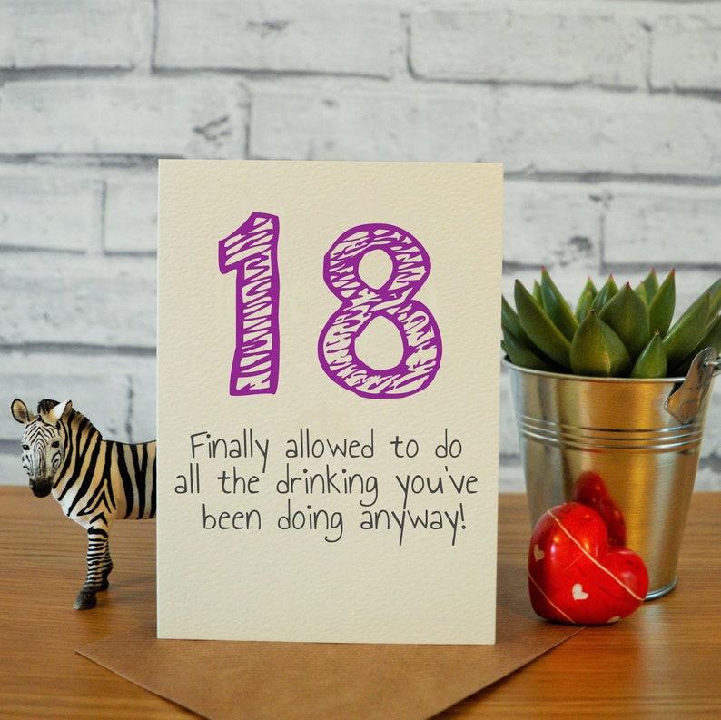 18 Geburtstag Karten Lustig 18 Geburtstagsgeschenk Bruder Etsy