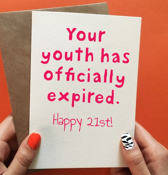 Funny 21st Birthday Cards For Her Card Sister