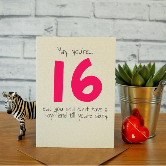 16th Birthday Card Daughter Gift Sweet 16