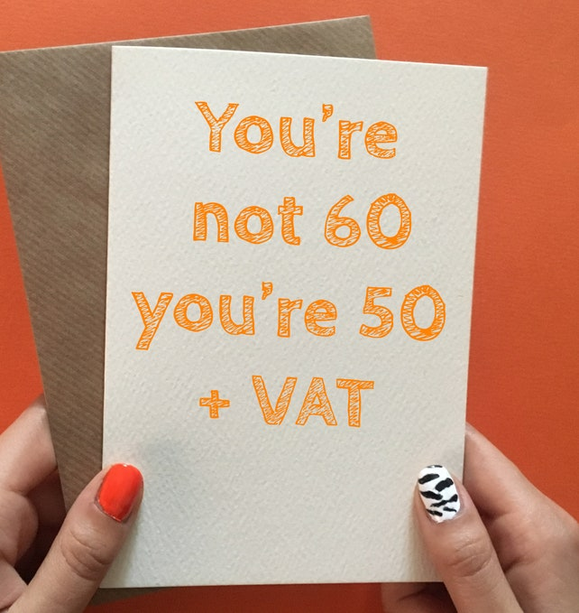 60th Birthday Card Funny Gifts Gift Ideas For Him Her