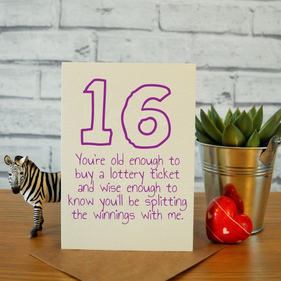 16th Birthday Card Daughter Gifts Funny