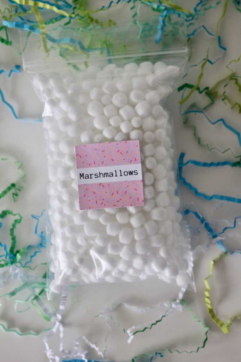 Marshmallow foam 4x6 bag-marshmallows for slime-slime image 0