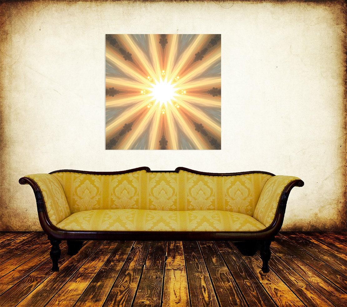 Sun Art Canvas Print Modern Wall Art Feng Shui Fire   Etsy