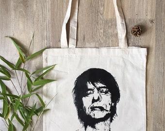 Tote bag made in france portrait Jean Louis AUBERT bag hand make