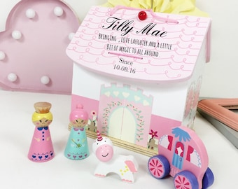 Girls First Birthday Gift Personalised Dolls House 1st Unique Birthdays For Girl Flower Christening