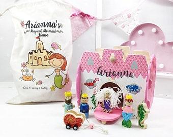Girls First Birthday Gift Personalised Dolls House 1st Mermaid Unique Birthdays For Girl Flower Chri