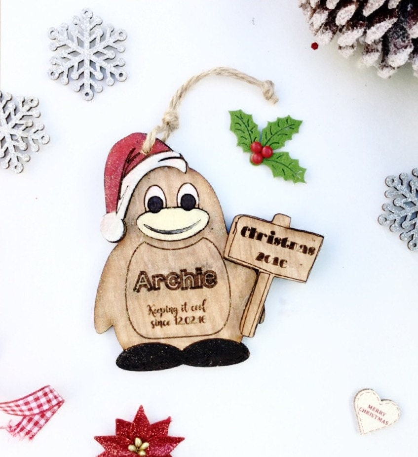 Personalised Christmas Decoration Babys First Christmas Decoration