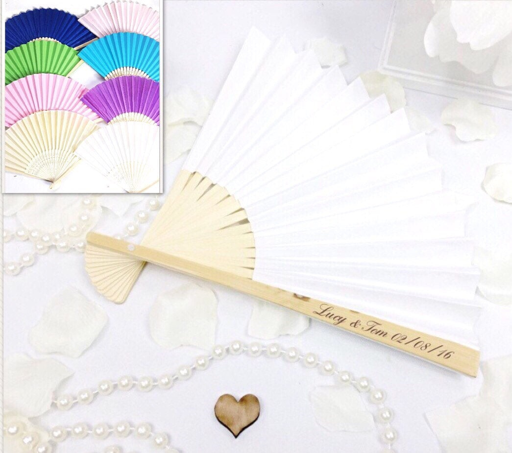 Fantastic Personalized Fan Wedding Favors Gift - The Wedding Ideas ...