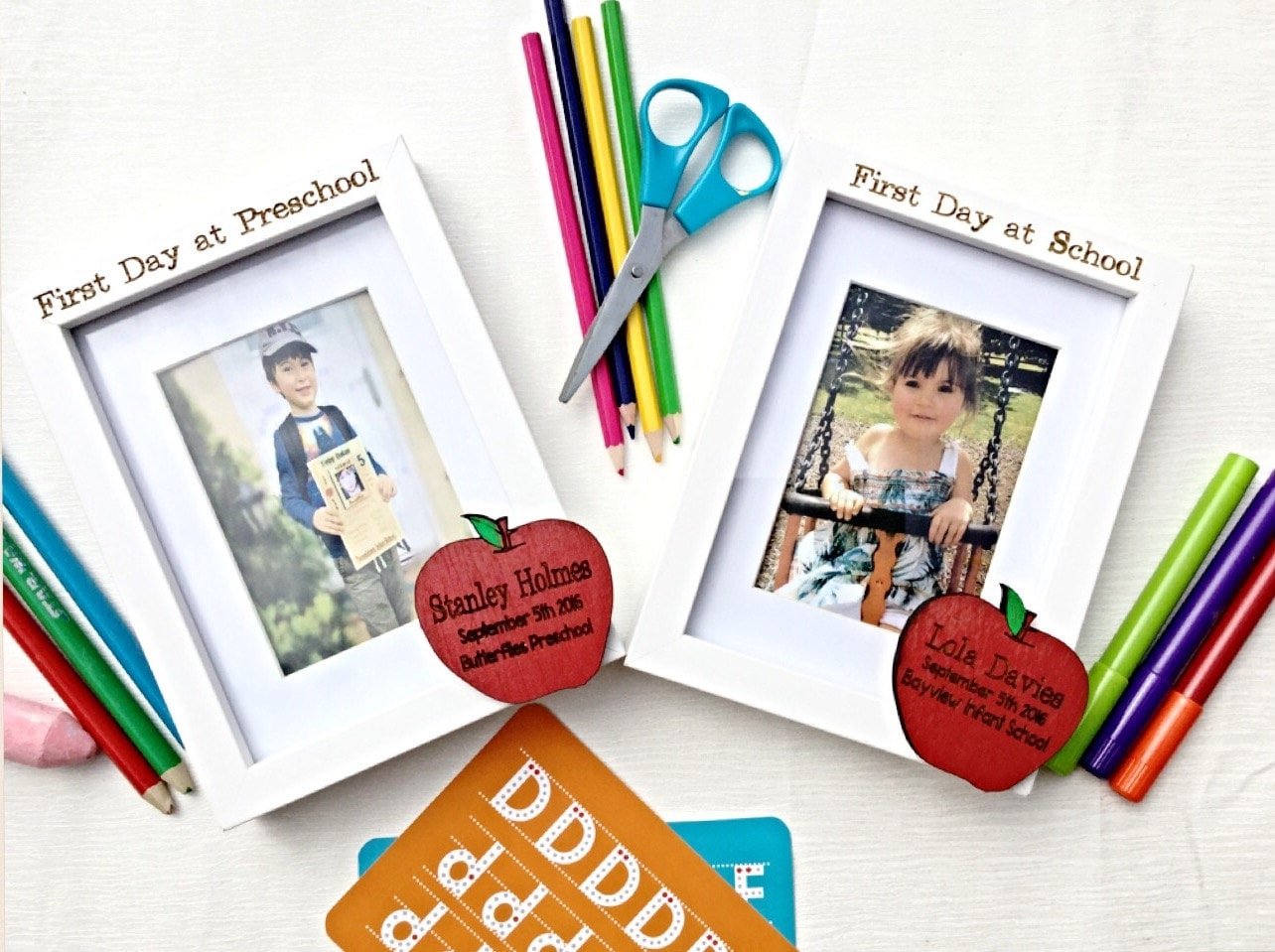 First day of school frame, 1st day at school, Personalised frame ...