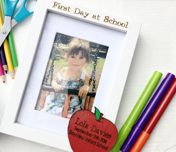 First day of school frame 1st day at school Personalised | Etsy