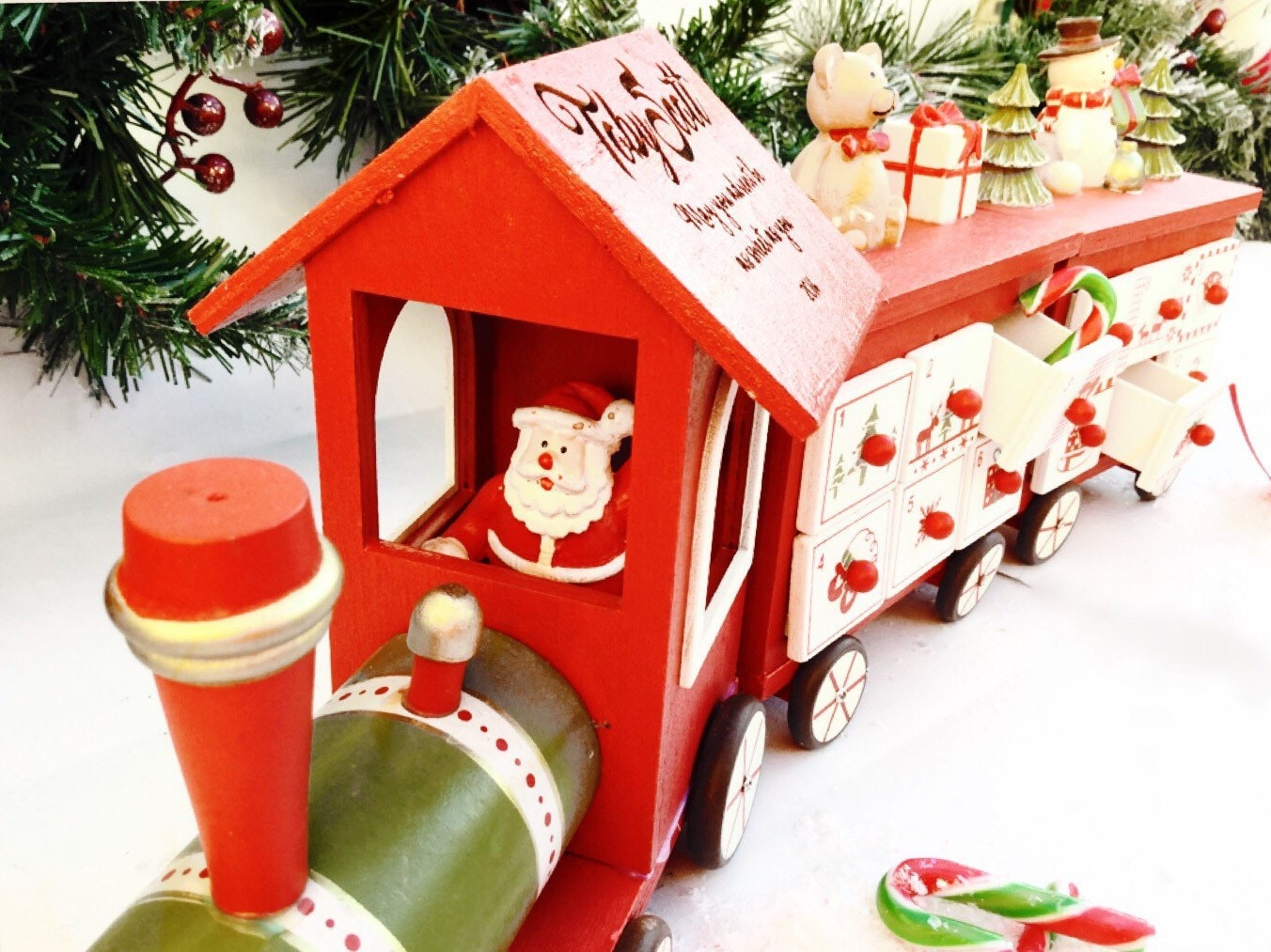 Wooden Advent Calendar Personalised Advent Calender Train Advent