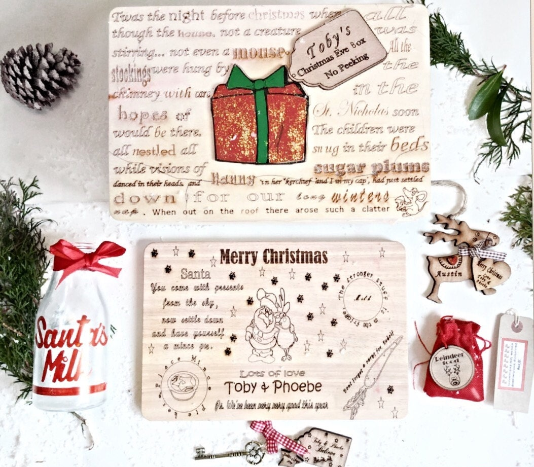 Christmas eve box, Filled Christmas eve box, Christmas Eve pack ...