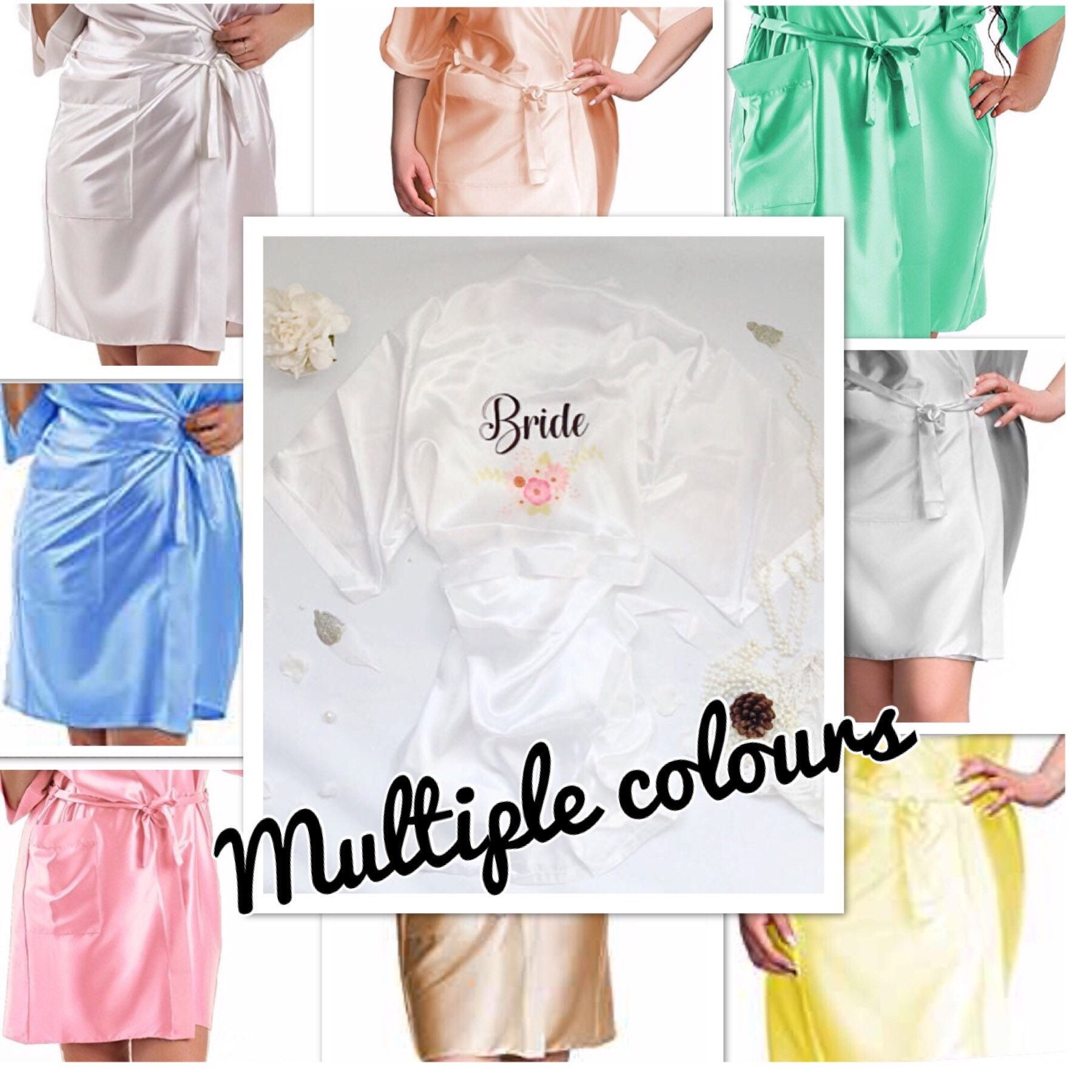Brides Dressing Gown Bridesmaids Dressing Gown Wedding Party