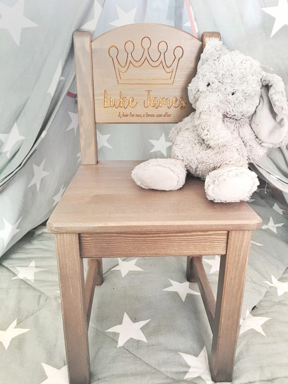 Personalised Chair Boys 1st Birthday Present First