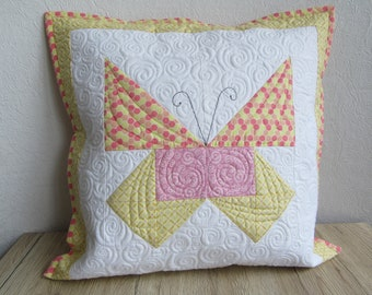 Quilted Pillow cover/quilted Pillow