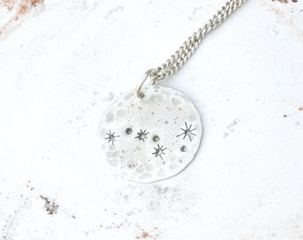 Ursa major necklace Constellation necklace Big dipper necklace Silver pendant Astronomy necklace Zodiac jewelry Space jewelry Star sign