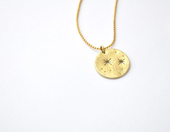 Star Coin Medallion Necklace Bohemian Charm Celestial Talisman by Etsy