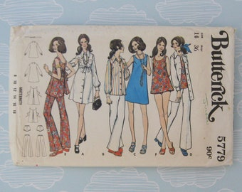 Butterick 5779 top and pants sewing pattern - Size 14 - complete with all pieces - vintage paper pattern - maternity