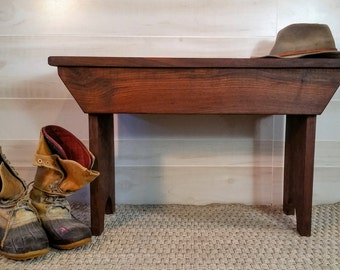 Bench, Wood Bench, Wooden Bench, Walnut Bench, Entryway Bench, Rustic Bench, Farmhouse Bench, Mudroom Bench, Recycled Wood Bench,