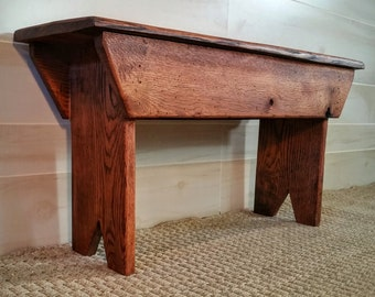 Red Oak Bench, Wooden Bench, Rustic Bench, Bench, Reclaimed Wooden Bench, Entryway Bench, Mudroom Bench, Porch Bench, Bedroom Bench