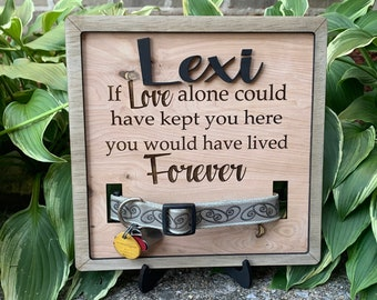 Dog Collar Remembrance Frame / Dog Remembrance / Personalized Pet Loss Gift / Custom Collar Memorial / Pet Loss /Memorial / Pet Memorial