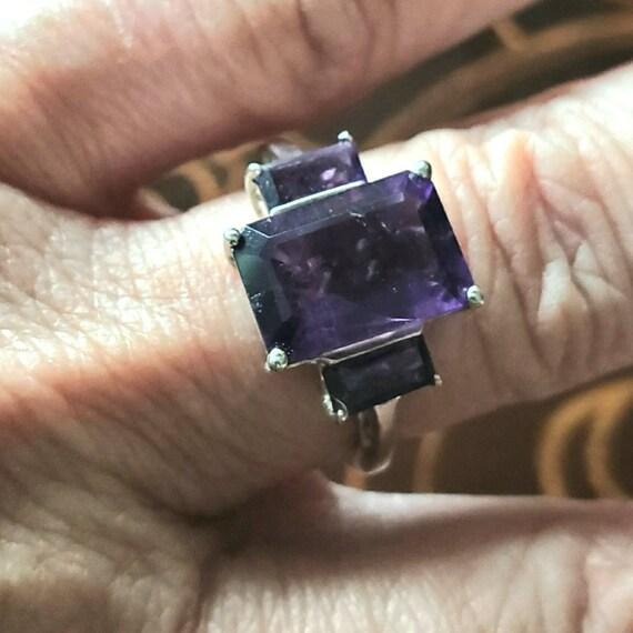 Vintage jewelry - Vintage ring - Amethyst jewelry