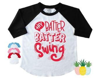 Sibling Baseball Shirt - Baseball Game Day Shirt - Sister Baseball Shirt - Brother Baseball Raglan - Baseball Fan Top - Hey Batter Batter