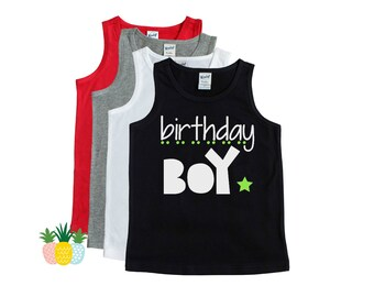Birthday Boy Shirt - Birthday Party Shirt - Birthday Shirt Boy - Boy's Birthday Tank - 1st Bday Shirt - 2nd Bday Shirt - 3rd Bday Shirt