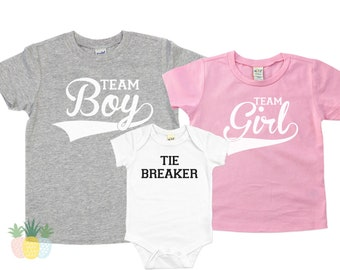 Big Brother Big Sister Shirts Boys 1 Girls 1 Tie Breaker Pregnancy Announcement