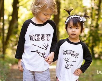 Sibling Shirt Set - Best Friends Shirts - Best Buddies Shirts - Boy Best Friends Shirts - Best Buds Shirts - Fist Bump Shirt - BFF Shirt Set