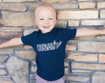 Fourth Birthday Shirt - 4th Birthday Shirt - Boy's Fourth Birthday Shirt - Four Year Old Shirt - Girl's 4th Birthday Shirt - Fournado Shirt