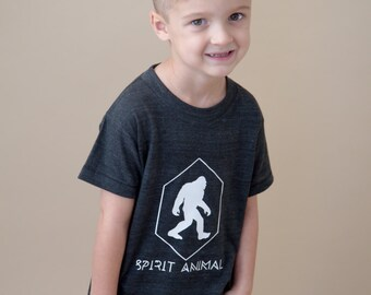 Kid's Bigfoot Shirt - Bigfoot Believer Shirt - Big Foot Shirt - Spirit Animal Shirt - Believe in Bigfoot Shirt - Kid's Bigfoot Believe Shirt