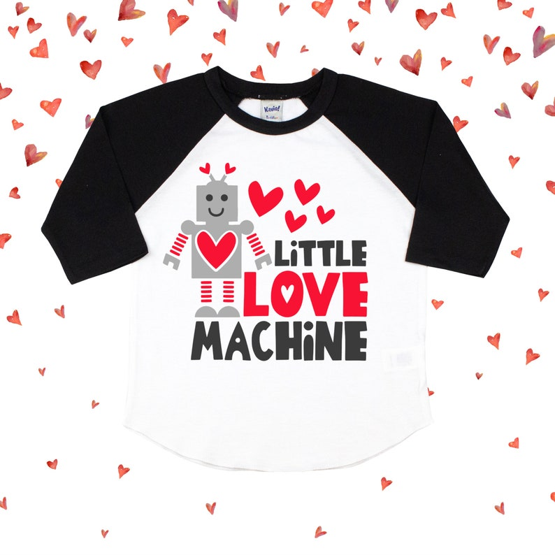 1fd2846a Little Love Machine Robot Valentine's Day Shirt For Kids | Etsy