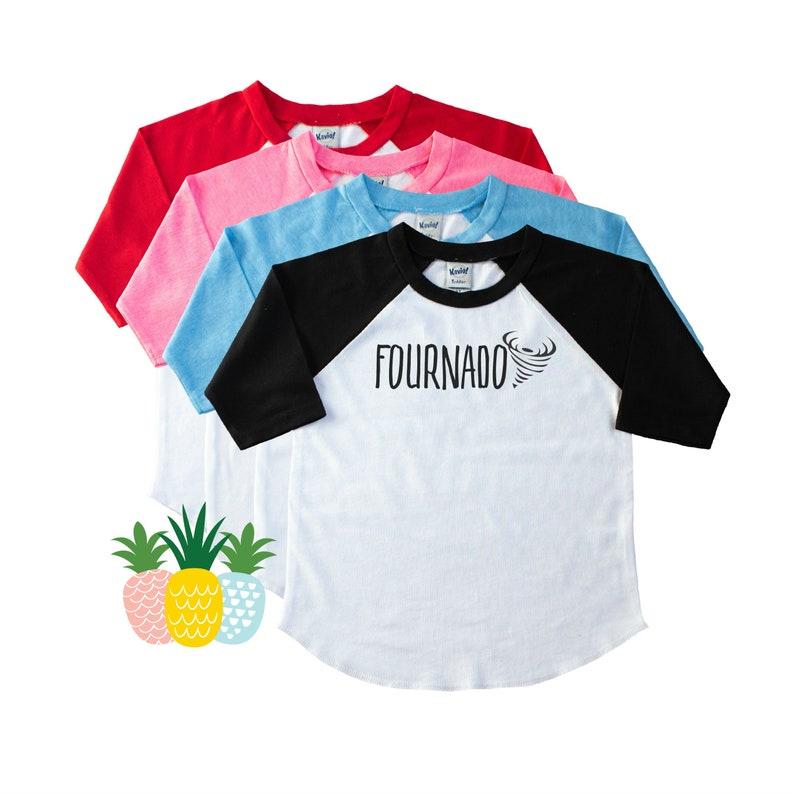 Fournado Fourth Birthday Shirt For Boys or Girls  4th image 0