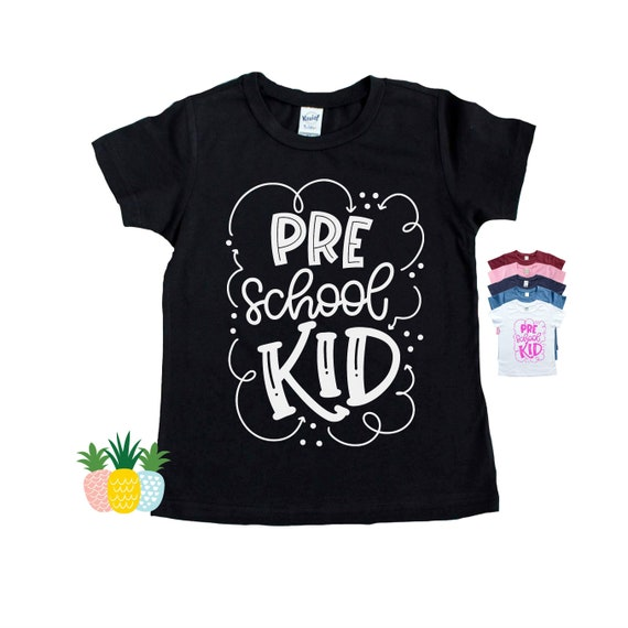 Preschool Kid Shirt for Kids - Back to School Shirt - Pre School Shirt -  First Day of PreK - Gift for Preschooler - Preschool Tshirt