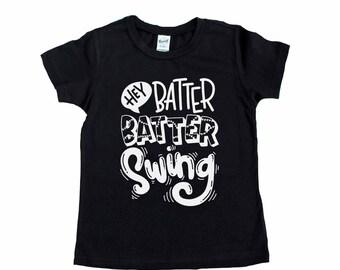 Baseball Shirt - Game Day Shirt - Ball Game - Softball Shirt - Hey Batter Batter Swing - Sports Shirt - Batter Up - Baseball Vibes Tee
