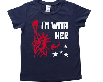 I'm With Her 4th of July Patriotic Tee - July Fourth Shirt - Fourth of July Shirt - Independence Day T-shirt - July 4th Outfit