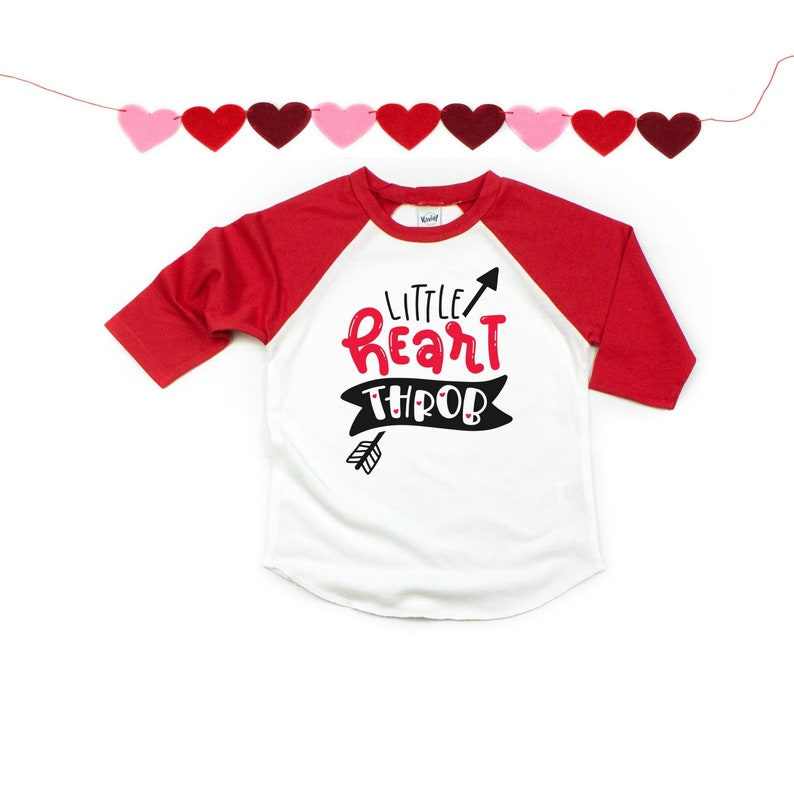c561ceef Little Heart Throb Valentine's Day Shirt For Kids | Etsy