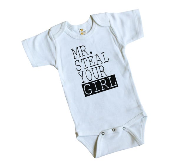5ecd3a68ce3c Mr. Steal Your Girl Infant Bodysuit - Boy Coming Home Outfit - Cute Baby Boy  Bodysuit - Boy Baby ...